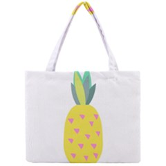 Pineapple Fruite Yellow Triangle Pink Mini Tote Bag