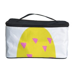 Pineapple Fruite Yellow Triangle Pink Cosmetic Storage Case by Mariart
