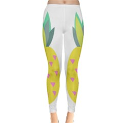 Pineapple Fruite Yellow Triangle Pink Classic Winter Leggings by Mariart