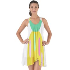 Pineapple Fruite Yellow Triangle Pink White Show Some Back Chiffon Dress by Mariart