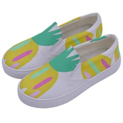 Pineapple Fruite Yellow Triangle Pink White Kids  Canvas Slip Ons by Mariart