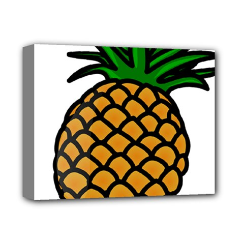 Pineapple Fruite Yellow Green Orange Deluxe Canvas 14  X 11  by Mariart