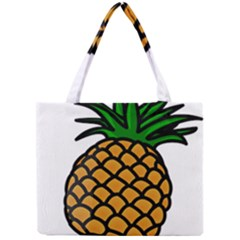 Pineapple Fruite Yellow Green Orange Mini Tote Bag by Mariart