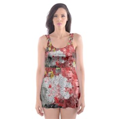 Garden Abstract Skater Dress Swimsuit