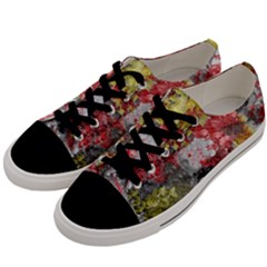 Garden Abstract Men s Low Top Canvas Sneakers by digitaldivadesigns