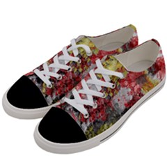 Garden Abstract Women s Low Top Canvas Sneakers by digitaldivadesigns