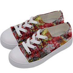 Garden Abstract Kids  Low Top Canvas Sneakers by digitaldivadesigns