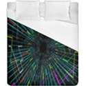 Colorful Geometric Electrical Line Block Grid Zooming Movement Duvet Cover (California King Size) View1