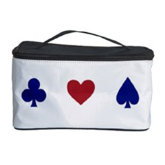 Playing Cards Hearts Diamonds Cosmetic Storage Case by Mariart