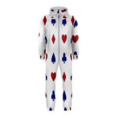 Playing Cards Hearts Diamonds Hooded Jumpsuit (kids)