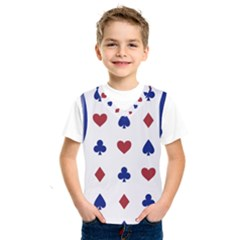 Playing Cards Hearts Diamonds Kids  Sportswear by Mariart