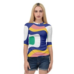 Rainbow Pink Yellow Bluw Green Rainbow Quarter Sleeve Raglan Tee by Mariart