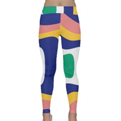 Rainbow Pink Yellow Bluw Green Rainbow Classic Yoga Leggings by Mariart