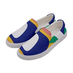 Rainbow Pink Yellow Bluw Green Rainbow Women s Canvas Slip Ons by Mariart
