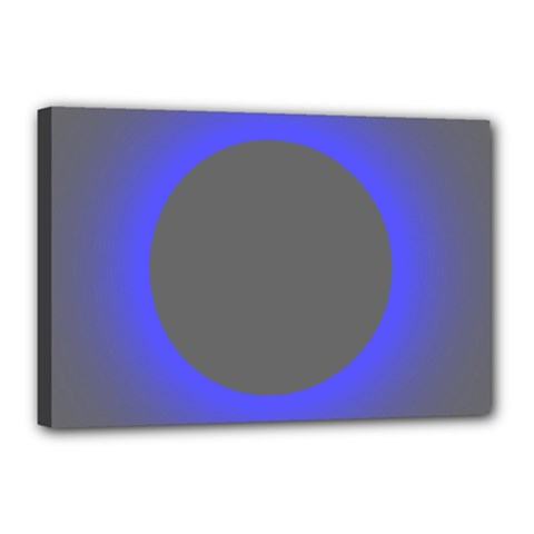 Pure Energy Black Blue Hole Space Galaxy Canvas 18  X 12  by Mariart