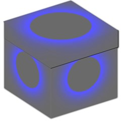 Pure Energy Black Blue Hole Space Galaxy Storage Stool 12   by Mariart