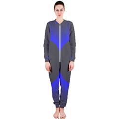 Pure Energy Black Blue Hole Space Galaxy Onepiece Jumpsuit (ladies)