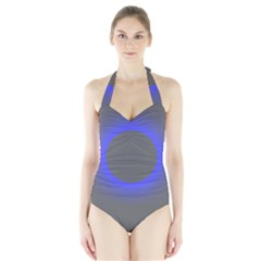 Pure Energy Black Blue Hole Space Galaxy Halter Swimsuit