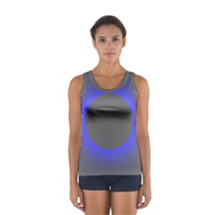 Pure Energy Black Blue Hole Space Galaxy Sport Tank Top  by Mariart