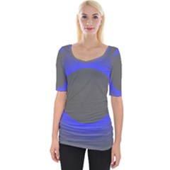 Pure Energy Black Blue Hole Space Galaxy Wide Neckline Tee by Mariart