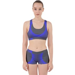 Pure Energy Black Blue Hole Space Galaxy Work It Out Sports Bra Set by Mariart
