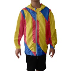 Rainbow Sign Yellow Red Blue Retro Hooded Wind Breaker (kids)
