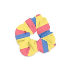 Rainbow Sign Yellow Red Blue Retro Velvet Scrunchie by Mariart