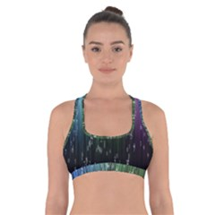 Numerical Animation Random Stripes Rainbow Space Cross Back Sports Bra