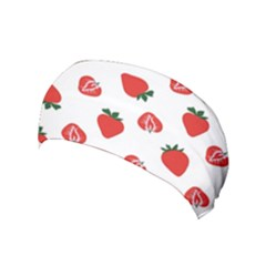 Red Fruit Strawberry Pattern Yoga Headband by Mariart