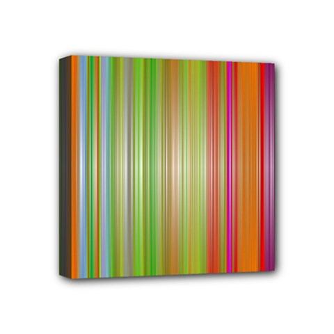 Rainbow Stripes Vertical Colorful Bright Mini Canvas 4  X 4  by Mariart