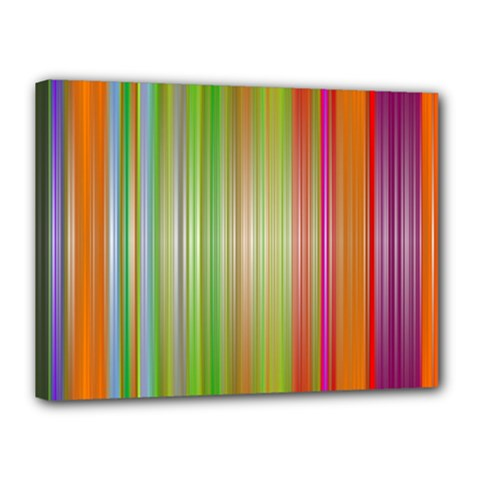 Rainbow Stripes Vertical Colorful Bright Canvas 16  X 12