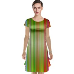 Rainbow Stripes Vertical Colorful Bright Cap Sleeve Nightdress by Mariart