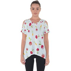 Root Vegetables Pattern Carrots Cut Out Side Drop Tee