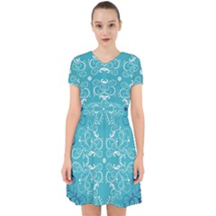 Repeatable Patterns Shutterstock Blue Leaf Heart Love Adorable In Chiffon Dress by Mariart