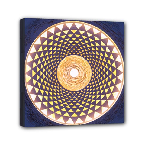 Sahasrara Blue Mini Canvas 6  X 6  by Mariart
