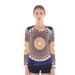 Sahasrara Blue Women s Long Sleeve Tee by Mariart