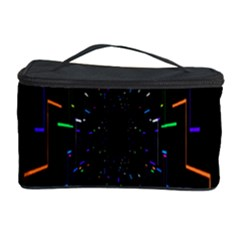 Seamless 3d Animation Digital Futuristic Tunnel Path Color Changing Geometric Electrical Line Zoomin Cosmetic Storage Case by Mariart