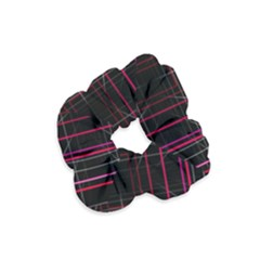 Retro Neon Grid Squares And Circle Pop Loop Motion Background Plaid Velvet Scrunchie by Mariart