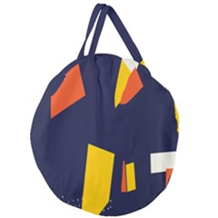 Slider Explore Further Giant Round Zipper Tote