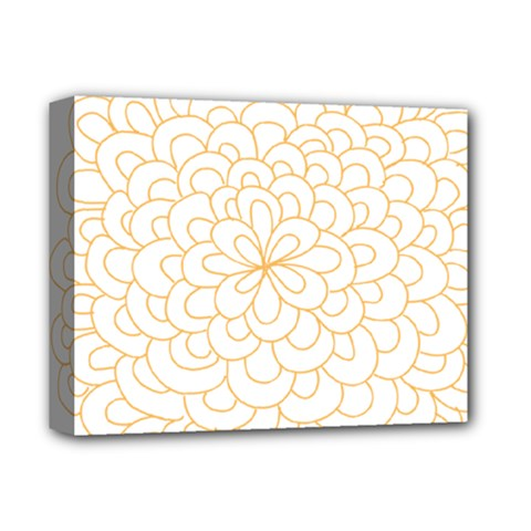 Rosette Flower Floral Deluxe Canvas 14  X 11  by Mariart