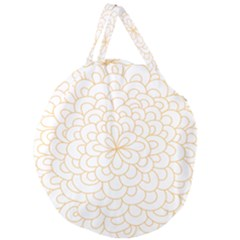 Rosette Flower Floral Giant Round Zipper Tote by Mariart