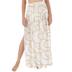 Rosette Flower Floral Maxi Chiffon Tie Up Sarong