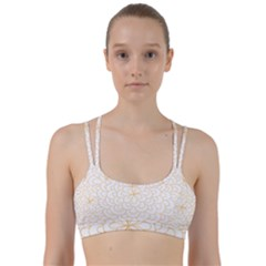 Rosette Flower Floral Line Them Up Sports Bra by Mariart
