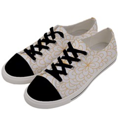 Rosette Flower Floral Men s Low Top Canvas Sneakers by Mariart