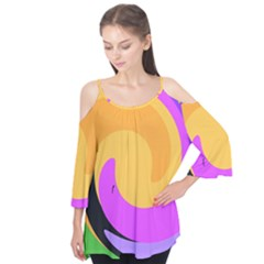 Spiral Digital Pop Rainbow Flutter Tees by Mariart