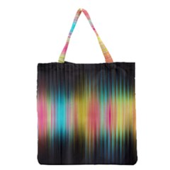 Sound Colors Rainbow Line Vertical Space Grocery Tote Bag by Mariart