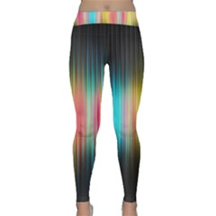 Sound Colors Rainbow Line Vertical Space Classic Yoga Leggings by Mariart
