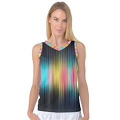 Sound Colors Rainbow Line Vertical Space Women s Basketball Tank Top by Mariart