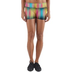 Sound Colors Rainbow Line Vertical Space Yoga Shorts