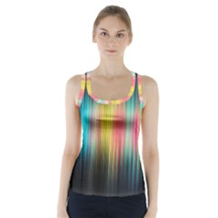 Sound Colors Rainbow Line Vertical Space Racer Back Sports Top by Mariart
